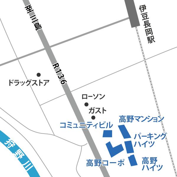 駅近エリアの地図